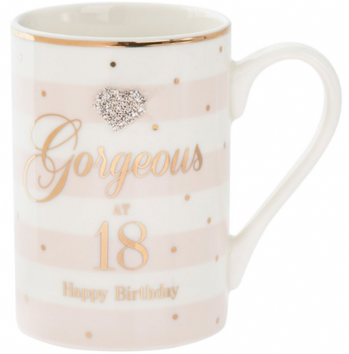 MAD DOTS 18TH BDAY MUG